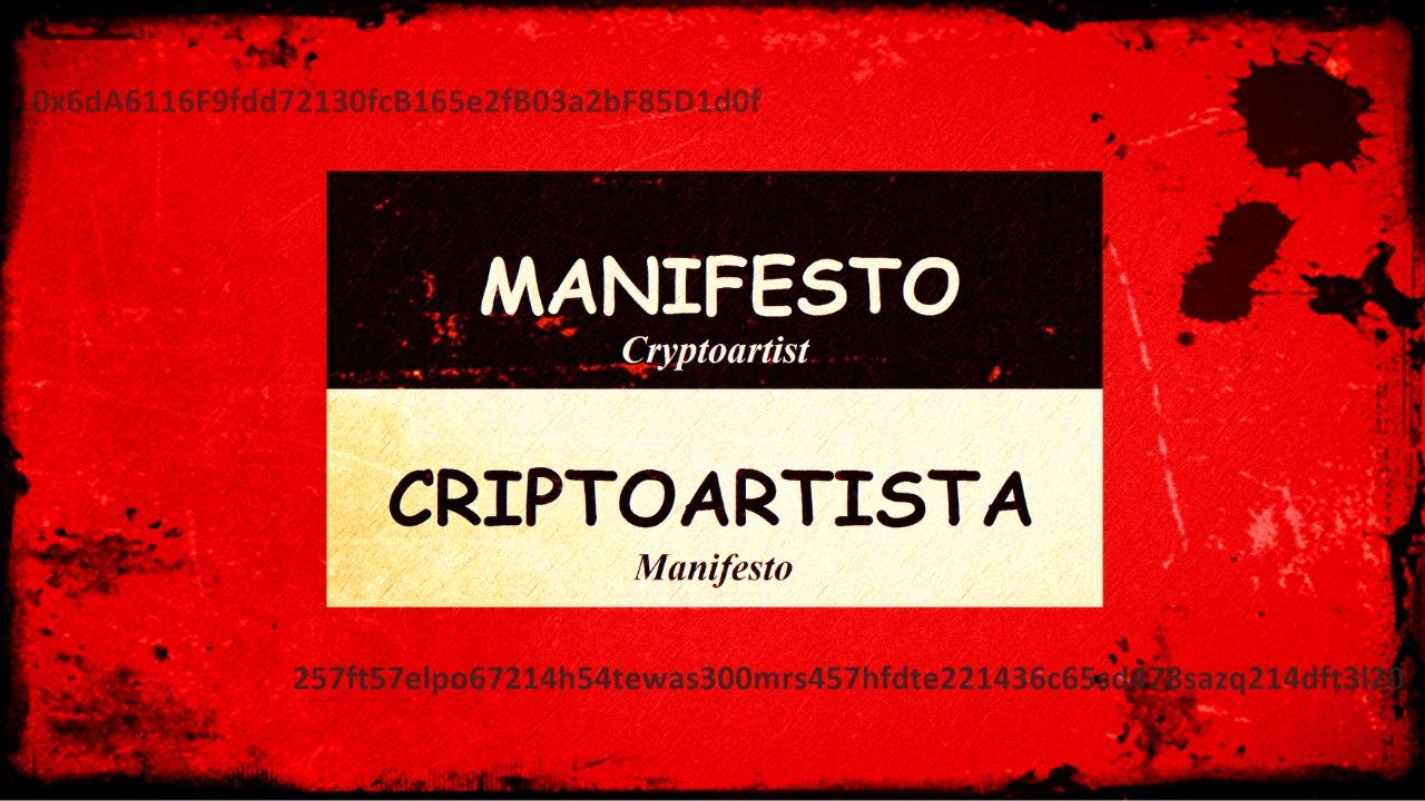Manifesto Criptoartista – In Portuguese
